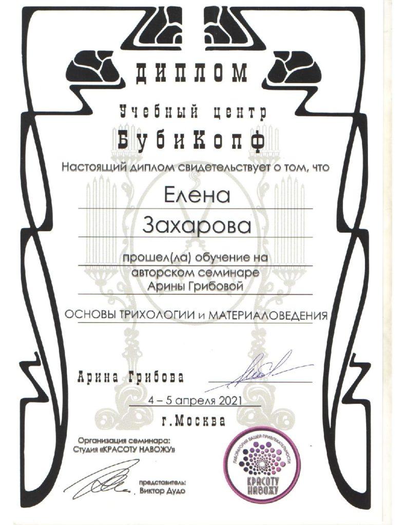 Захарова (Арина Грибова) 1